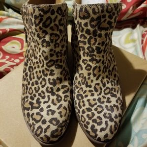 Lucky Brand Shoes - Leopard Print Ankle Boots